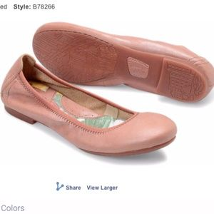 BORN Pink Leather Flats Shoes